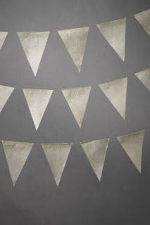 Parchment bunting.  A great addition to an earthy table spread.