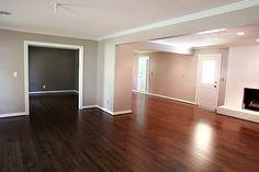 Love this floor....Red Oak with Dark Walnut Stain.