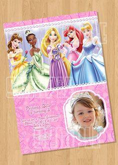 Disney Princess Birthday Party Invitation from Cuties Parties www.etsy.com/shop/cutiesparties2 $8.00