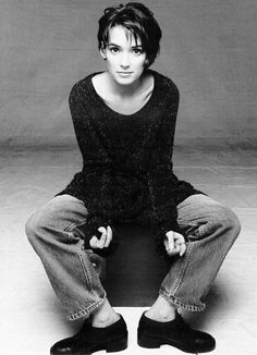 Winona Ryder looks great in #tomboy #chic nineties style another #HairHero