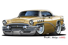 Car Art on Pinterest | Hot Rods, Cartoon Monsters and Muscle Cars