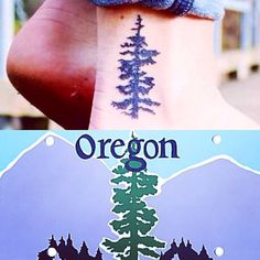 tattoo ideas, tree tattoos, oregon tattoos, tattoos oregon, tattoo oregon, oregon tree tattoo, tree ankle tattoo