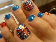 The London Olympics is right around the corner.  Get into the spirit with these nails.
