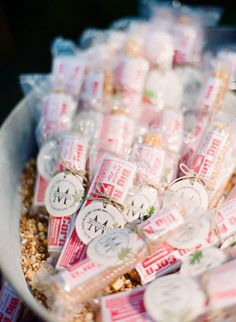 favor bags, galleries, wedding favors, popcorn favor, twine, wedding ideas, candi, romantic weddings, popcorn treats