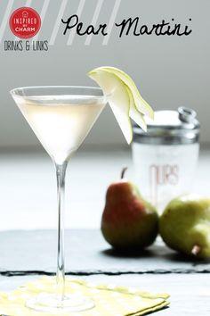 Pear Martini | Inspired by Charm #drinkandlinks martini drinks, pear martini recipe