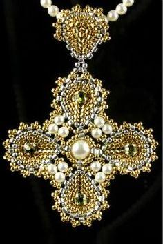 keys, magazines, crosses, blog, 7848ravenna2d00crossjpg 250375, beadwork magazin, cross bead, beadwork design