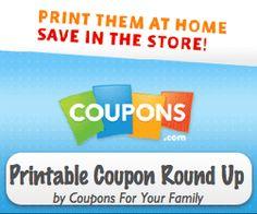 Coupons.com Printable Coupons Daily Roundup : #CouponAlert, #Coupons, #Printablecoupons Check it out here!!