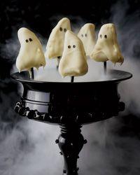 Ghostly Lemon Cake Pops
