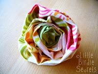 Little Birdie Secrets: make a fabric flower and a flower tutorial round up