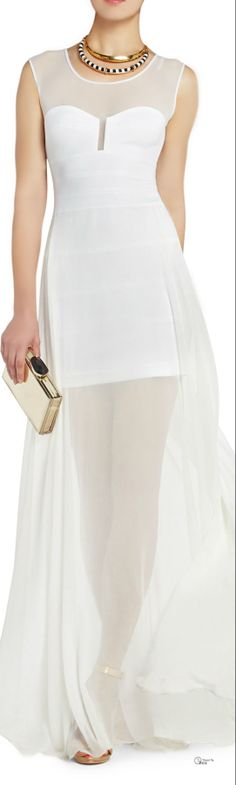 BCBGMAXAZRIA SS 2014 ... Take a look at the website for 5 fantastic style with all these charming white dress check http://topfashiondesigners.us/5-perfect-looks-with-white-dress/