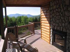 Love an indoor/outdoor fireplace