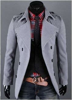 Men's Double Breasted Coat