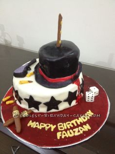 Coolest Mafia Birthday Cake... This website is the Pinterest of birthday cake ideas