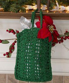holiday, bag crochet, shopping bags, crochet gifts, crochet gift bags