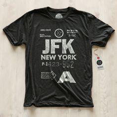 New York JFK T-Shirt Men's / Pilot & Captain