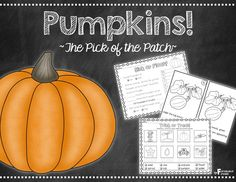 Your students will have a blast learning all about pumpkins with this unit! Spread their learning over several days or make a day of it on Halloween!