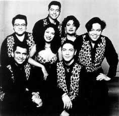 Tejano music artists Selena y Los Dinos, in their cow-print stage costumes.  Photo is from a media press kit promoting their concert at Sea World of Texas in San Antonio slotted for Saturday, Aug. 28, 1993.  PHOTO COURTESY OF SEA WORLD OF TEXAS  (1993) [E/N FILE PHOTO] Photo: SPECIAL TO THE EXPRESS-NEWS / E/N FILE PHOTO