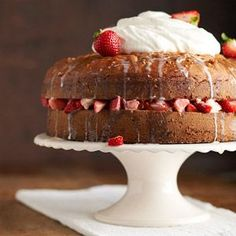 Tres Leches Cake Transform a plain white cake mix into an elegant dessert with this shortcut cake recipe.