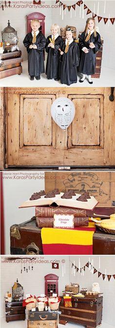 TONS of Harry Potter Birthday Party Ideas! Printables, decorations, tutorials, DIY tips favors, food ideas, cake ideas & more! Via Kara's Party Ideas   KarasPartyIdeas.com for Parenting Magazine