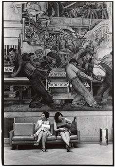Photo by William Gale Gedney. WPA painting in the background