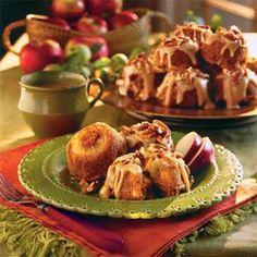 Caramel-Apple Muffins   MyRecipes.com muffins, apple recipes, dessert recipes, caramelappl muffin, food, apple slices, caramels, muffin recip, caramel apples