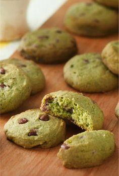 Aiya Matcha - Matcha recipes: Matcha Chocolate Chip Rice Cookie