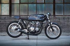 A custom Honda CB550 from Mike LaFountain of California's Raccia Motorcycles.