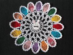 handmade crochet doily Easter Bunny and Easter Eggs Easter doily