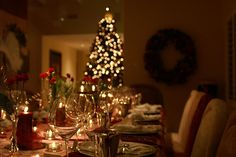 Atmospheric #christmas #centerpieces