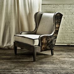 We love this fur trimmed bad boy - Chair no. 29 by The New Traditionalists.