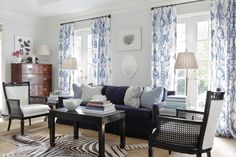 black and white with  Blue and White Monday  ||  Jessica Walmsley Interiors