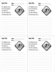 Here's a set of exit slips with 5 different question prompts to help students think about their exit reflection.