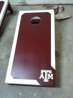 Texas Aggie Boards - I love cornhole! My boyfriend and his best friend made a much better one though!!