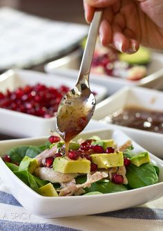 Duck Confit Salad with Cranberry Vinaigrette