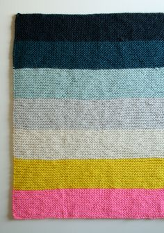 Color Block Merino blanket