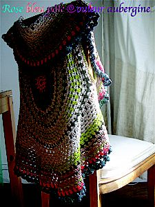 crochet - thinking something like this that I turn into a crazy sweater out of scraps