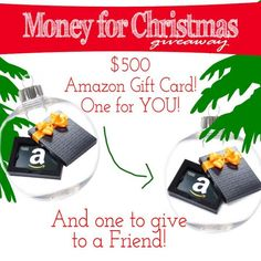 Enter to win a $500 Amazon card for you AND a $500 Amazon card for a friend!! Ends on 10/24/14
