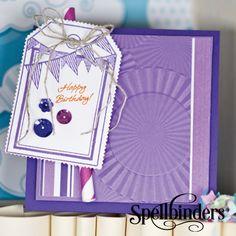 Happy Birthday Rosette by Richard Garay for Spellbinders