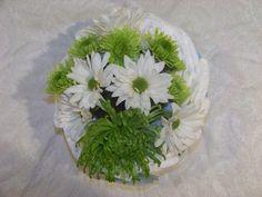 Spider mum green daisy white