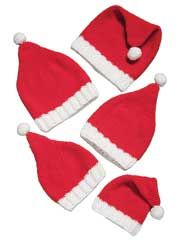 Santa Hats for the Family Crochet Pattern
