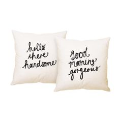 His and Hers Pillow Covers 18 x 18 inch by ZanaProducts on Etsy…so many cute pillows in this shop!!