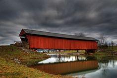 One of WVs last covered bridges, Milton, WV.