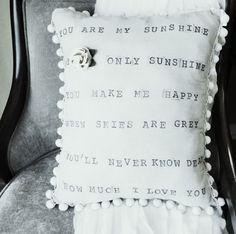 Anthropologie inspired pillow DIY