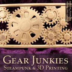 Join us this week for a look at how 3D printing is a perfect fit for the bespoke nature of steampunk design - we'll be featuring the story of this 3D printed iPhone case with moving gears, finished in gold and silver, in a new post later this week.