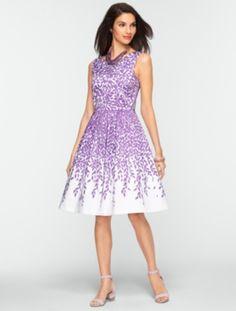 Talbots - Leaf-Print Dress   Dresses   Misses