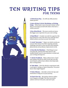 Writing tips for teens who want to become authors ...