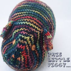 Hand knit TOY  Guinea Pig  Hand painted yarn  A by PippsPurses, $16.00