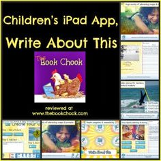 #IPADED: Review, Children's iPad App, Write About This - writing prompts for elementary/primary kids.