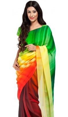 These designer indian sarees is a multihued depiction of the profound peace of mind, a state of being free from any kind of pain or misery. It also represents the calmness of mind one has after the fires of greed, detestation, and delusion have been extinguished. For more detail visit http://www.kbshonline.com/