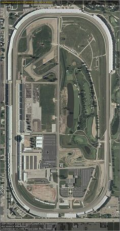 Aerial view--Indianapolis Motor Speedway